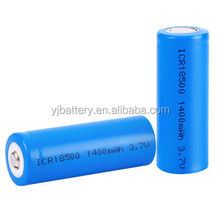 18650 3.7v 1400mah 2200mah li ion battery 18500 with rechargeable in stock for laptop, tablet and gps in stock