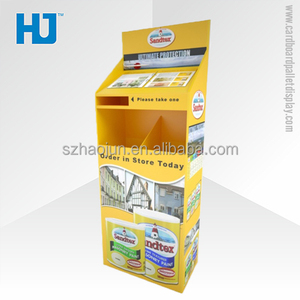 Advertising + Displaying Dual Purpose Cardboard Floor Display for Paint