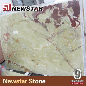 Newstar green onyx marble stone slab different texture