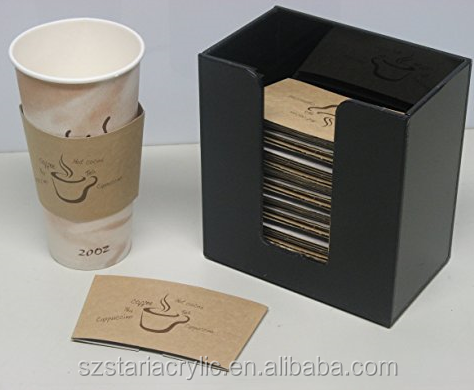 Acrylic Coffee Cup Sleeve Holder Hot Cup Dispenser