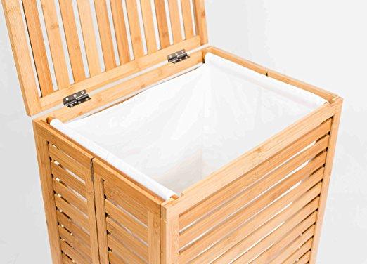 Natual Bamboo Bathroom Foldable Laundry Hamper 9