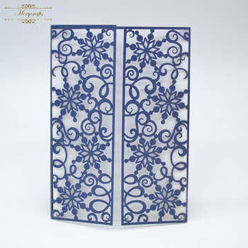 Royal blue two fold snowflake christmas party decoration laser royal blue two fold snowflake christmas party decoration laser invitation happy birthday wishes greeting card stopboris Images
