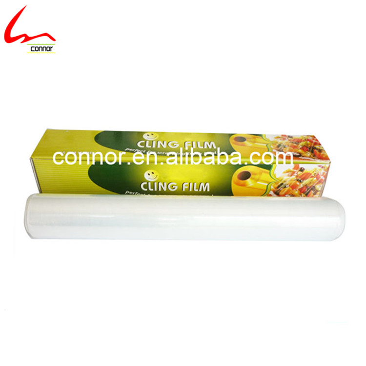 keep food fresh plastic wrap / pvc cling film for food grade / soft food wrapping