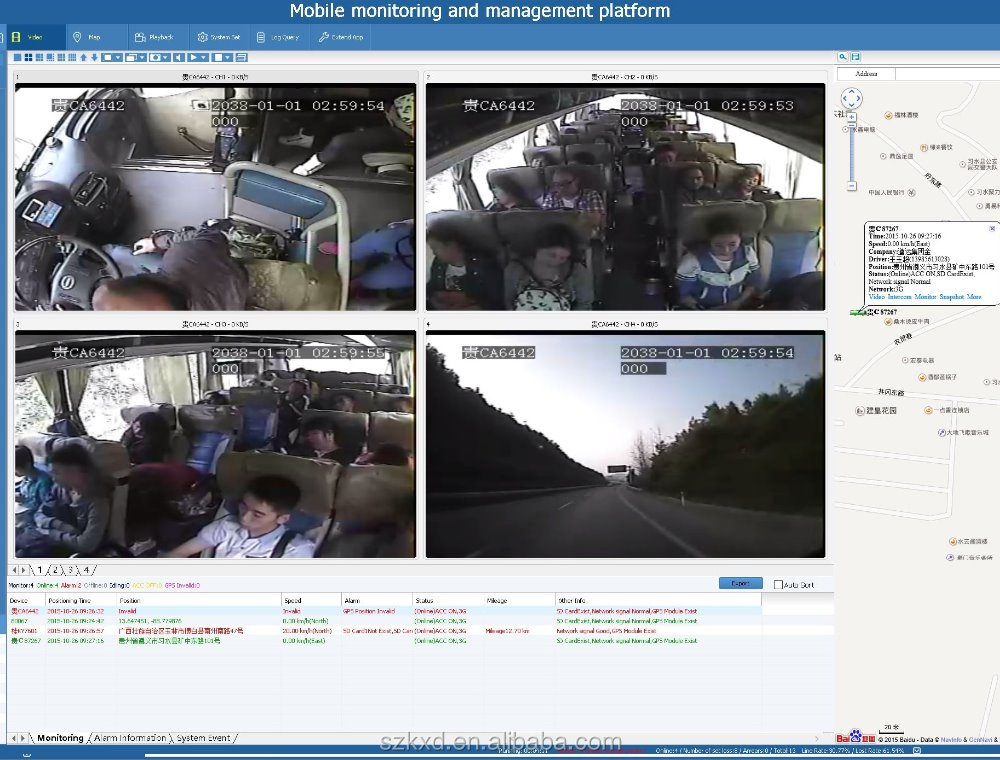 Vehicle BUS Taxi car security surveillance camera system with 3G/4G/WIFI