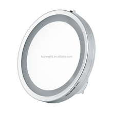 Makeup mirror magnifying compact led light mirror with sucker