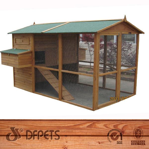Madera de pollo gallina de pato de aves de corral casa hutch coop jaula 6 con cajas de anidaci n - Casas para gallinas ...