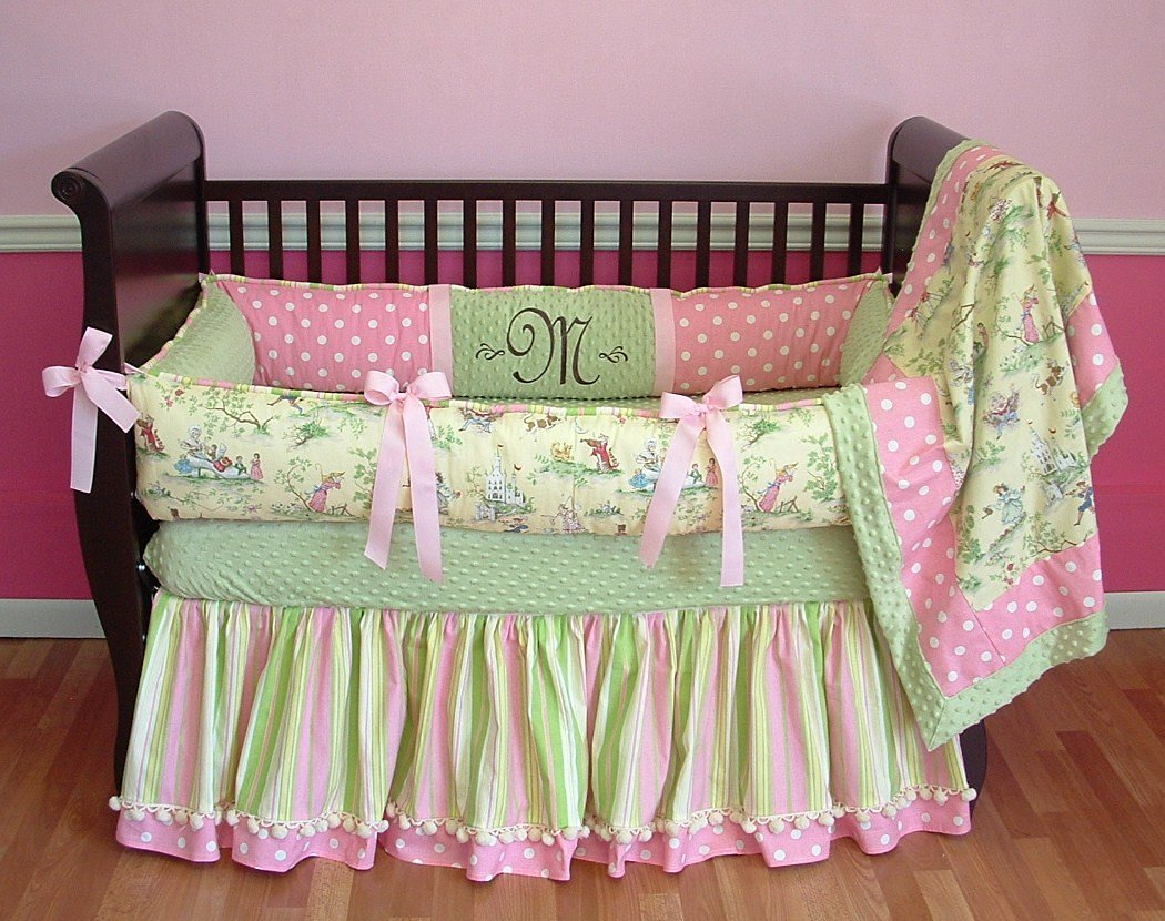 Modpeapod Nursery Rhyme Toile Breathable Baby Bedding Set