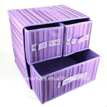 Square Non Woven Foldable Storage Boxes/Storage Case With Drawer