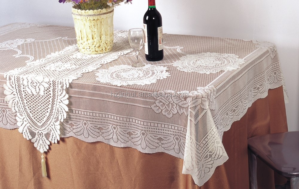 China Supplier Linen Hand Embroidered Tablecloth