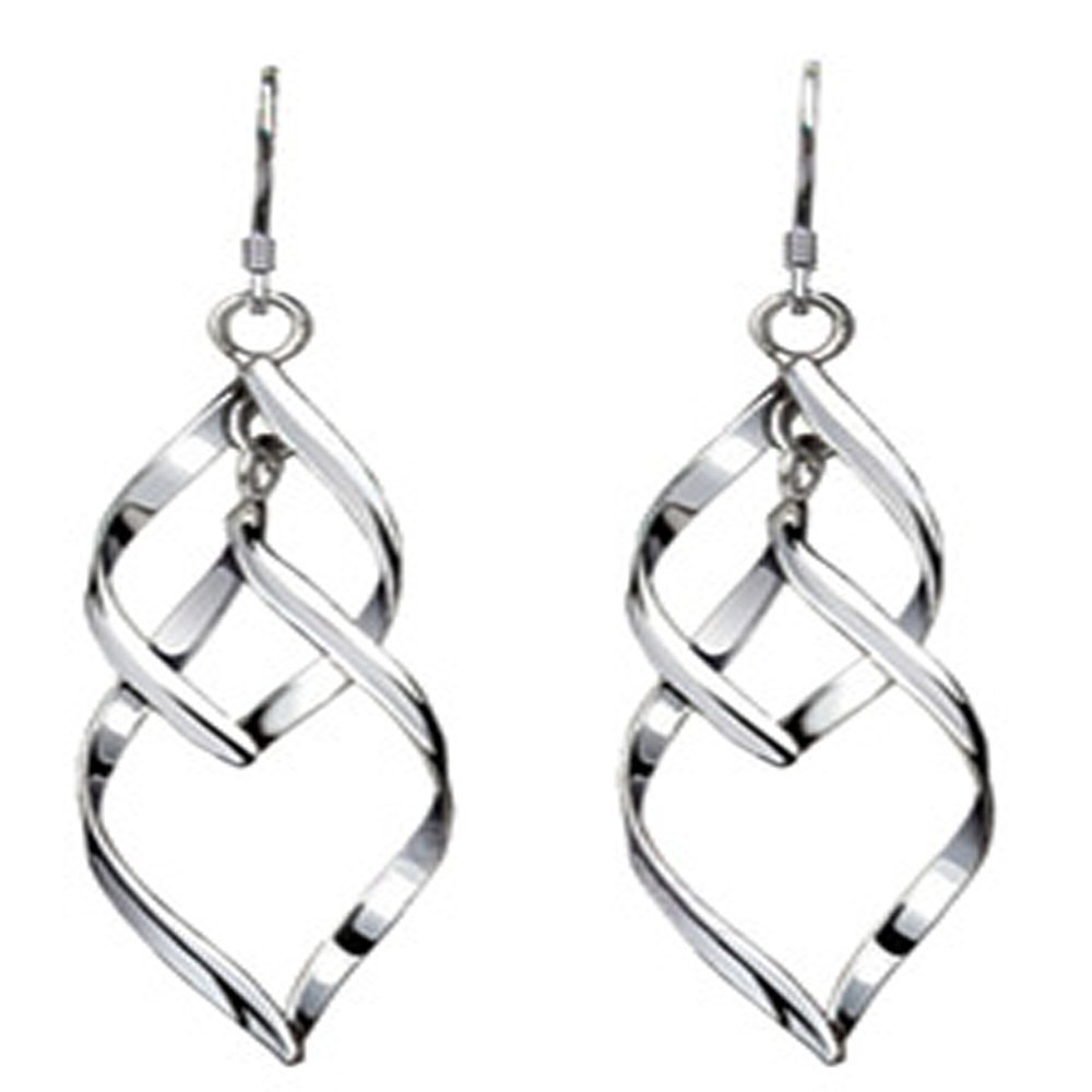 Get Quotations Zhicheng 925 Sterling Silver Earrings Jewelry Elegant Tel Wedding Awesome