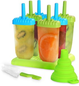 BPA free 6 piece Homemade Premium Popsicle Mold Ice Pop Maker with tray