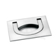 Zinc flush folding pull handles for kitchen cabinet
