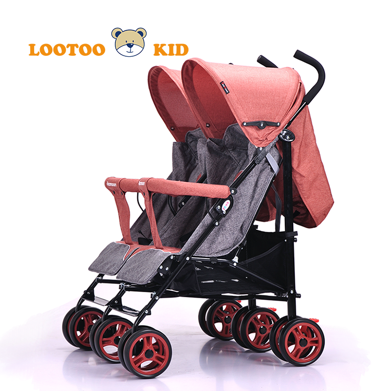 Alibaba china factory cheap price high quality new model double stroller pram for twins