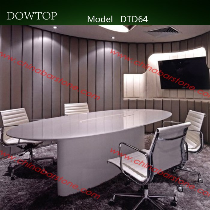 Supply Luxury Conference Room Table With Acrylic Solid Surface - White oval conference table