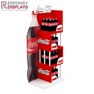 Customized permanent water bottle rack display, cola beverages rack wholesale sales