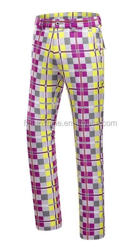 High Quality Colorful Mens Custom Golf Pants - Buy Custom ...