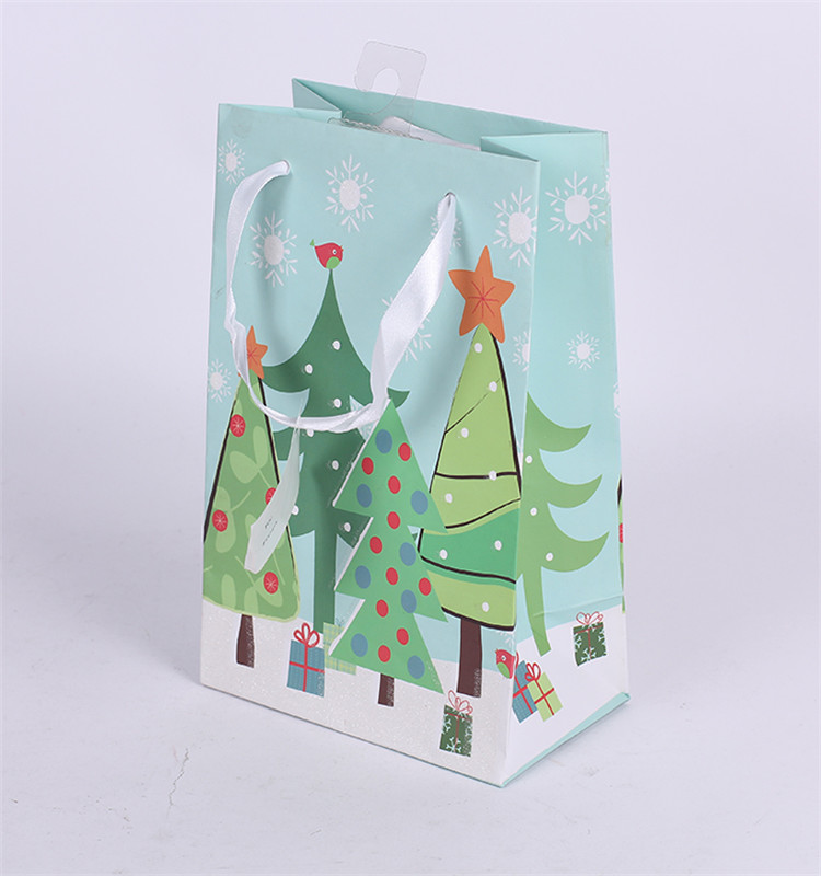 Custom Printed Christmas Wedding Shopping Paper Bag For Gift