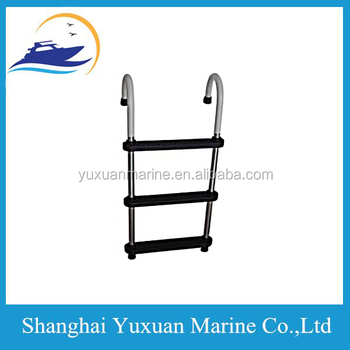 4 paso aluminio borda gancho escalera para el barco marine for Escaleras tipo barco