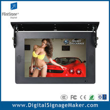 Bus/Car ceiling mount 1080P HD 15 inch lcd video monitor