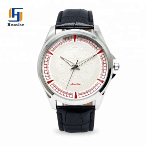 2018 Japan Movt Quartz Watch Stainless Steel Back Leather Watch For Men