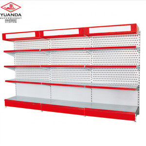 Supermarket Rack Retail Shelving System Single Side Metal Shelf