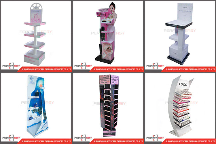 4 livelli di figura rotonda del metallo piano del bambino di cura del corpo del prodotto display stand