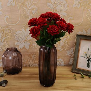 Hobby Lobby Wholesale Cheap Artificial Red Rose High Quality Velvet