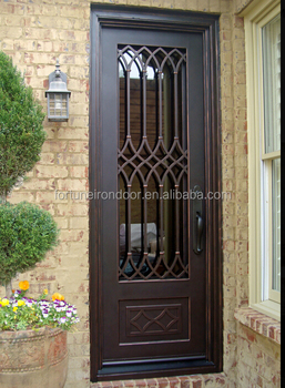 Modern Wrought Iron Door Luxury Villa Entrance Door