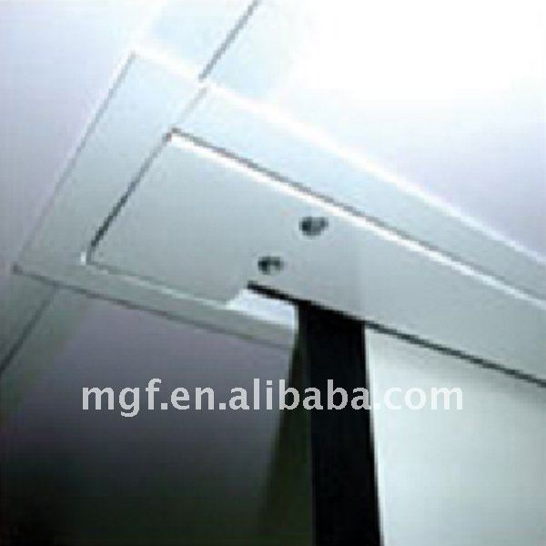 Recessed Into Ceiling Electric Projection Screen With Remote Control Motorized Projector Clear