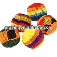 Promotional knitted kick ball