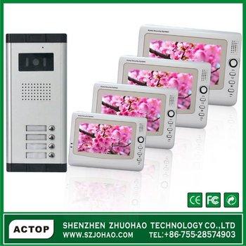 2-12 Multi Apartment Intercom Phone Access System,Video Door Phone ...