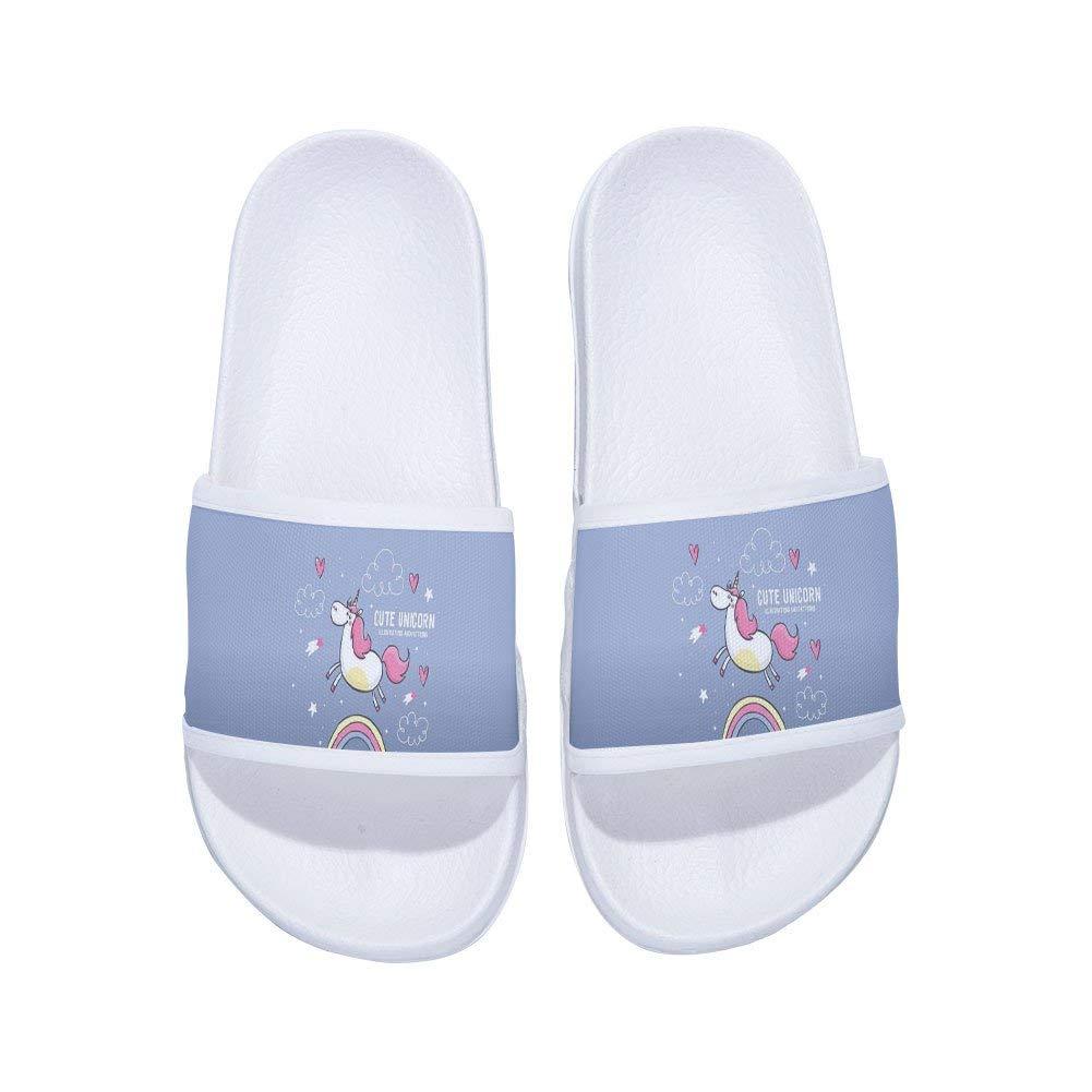 MingDe Sports Boys Girls Unicorn Shower Shoes Indoor Floor Slipper Anti-Slip Bath Slippers (Little Kid/Big Kid)