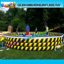 33ft Crazy Speed Electronic Game and Inflatable Mattress for Mechanical Rodeo Eliminator