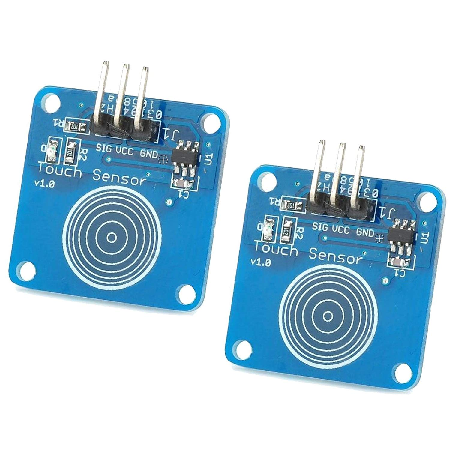 Optimus Electric 2pcs Digital Capacitive Touch Sensor Switch Module TTP223B Based 3 V - 5 V from