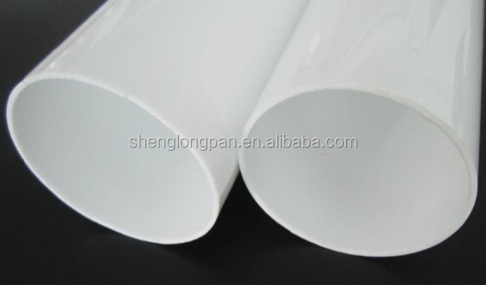 acrylic storage tube with white color