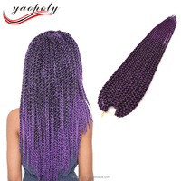 3D Cubic Twist Crochet Braids Afro Natural Cubic Twist Senegalese Twist Hair Extensions Synthetic Ombre Havana Mambo