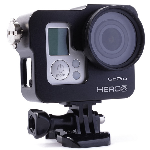 High Quality Black Gopro Accessories Aluminum Alloy Shell Dog Case For Gopro HD hero3