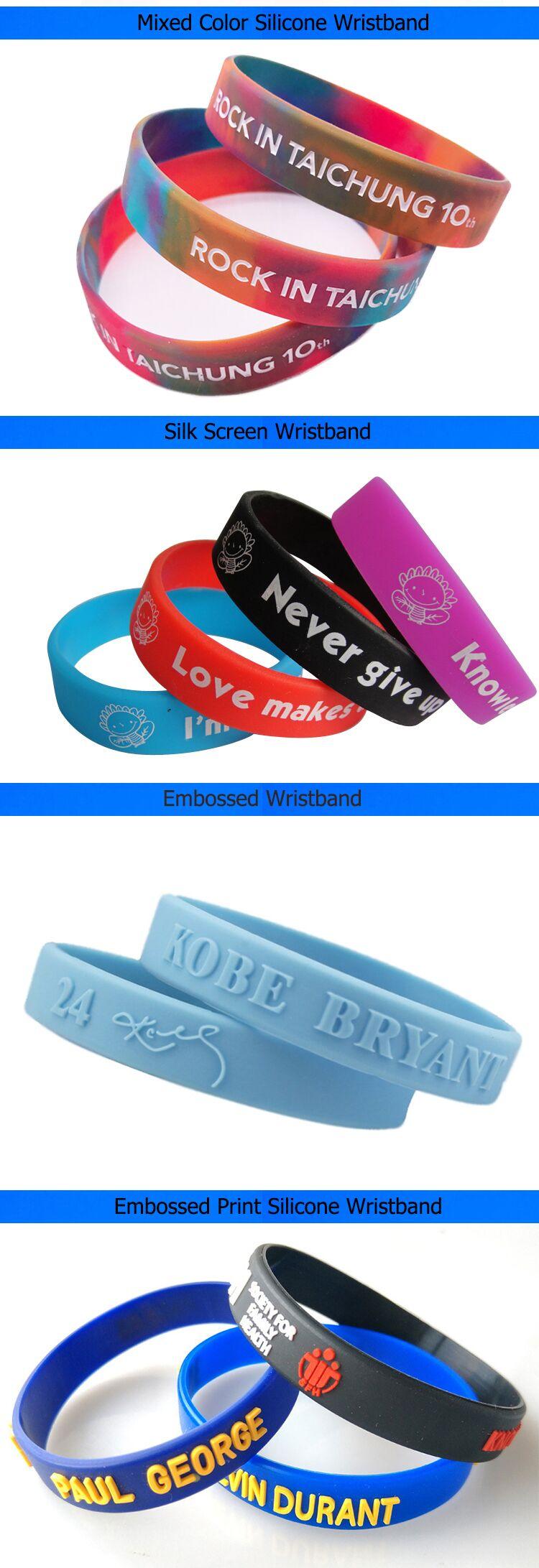 O logotipo personalizado eco de pulso de borracha banda pulseira de silicone personalizadas para o evento do partido