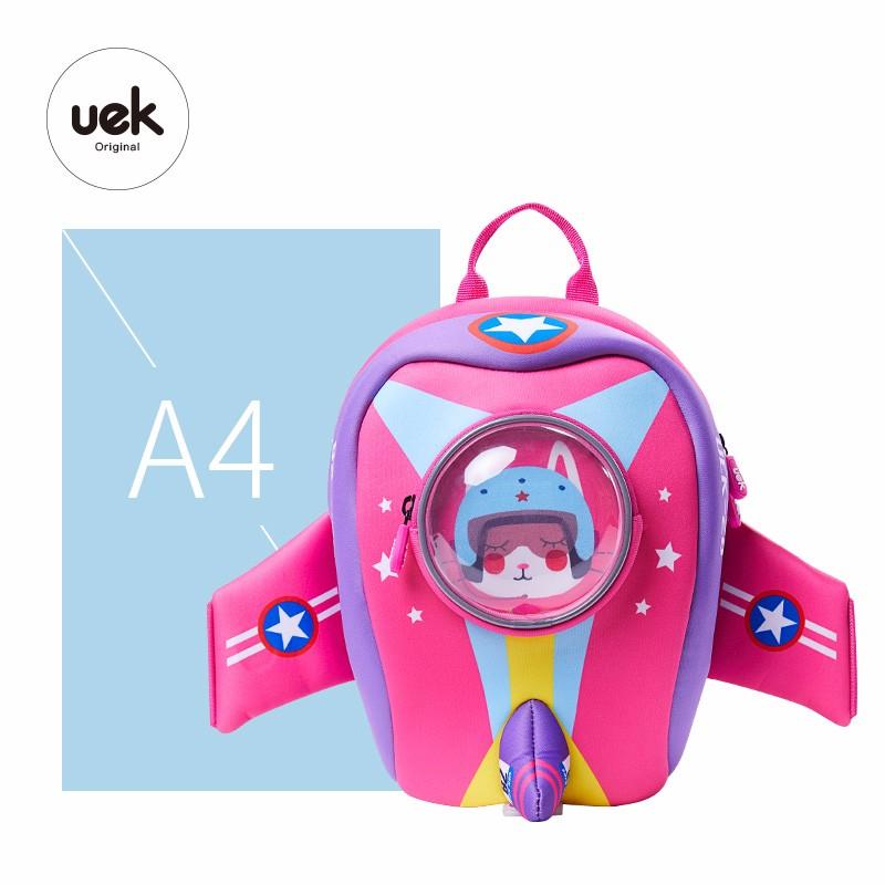 UEK Plane Kids Backpack (Pink)