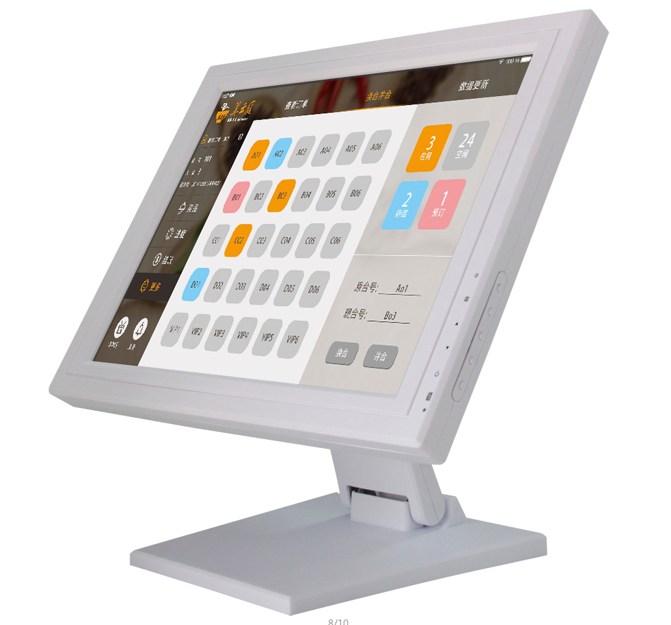 Square 4:3 17 Inch 4 5 Wire Resistive10 points Capacitive Touch Screen LCD LED Monitor For POS Medical