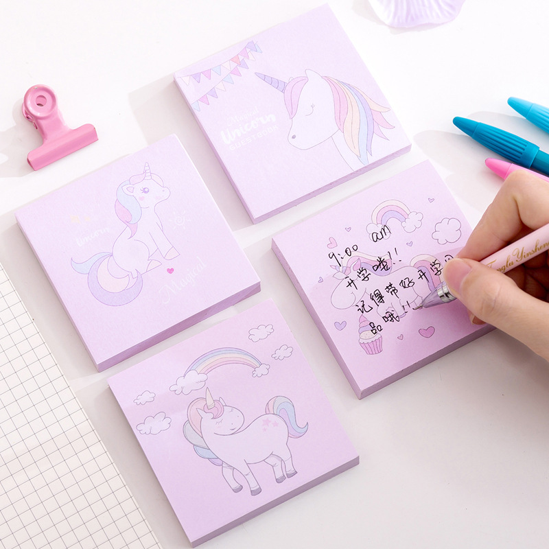 Dier sticky notes Koreaanse Kawaii Regenboog Eenhoorn Sticky Notes Creative Post Notepad DIY Memo Pad Kantoor