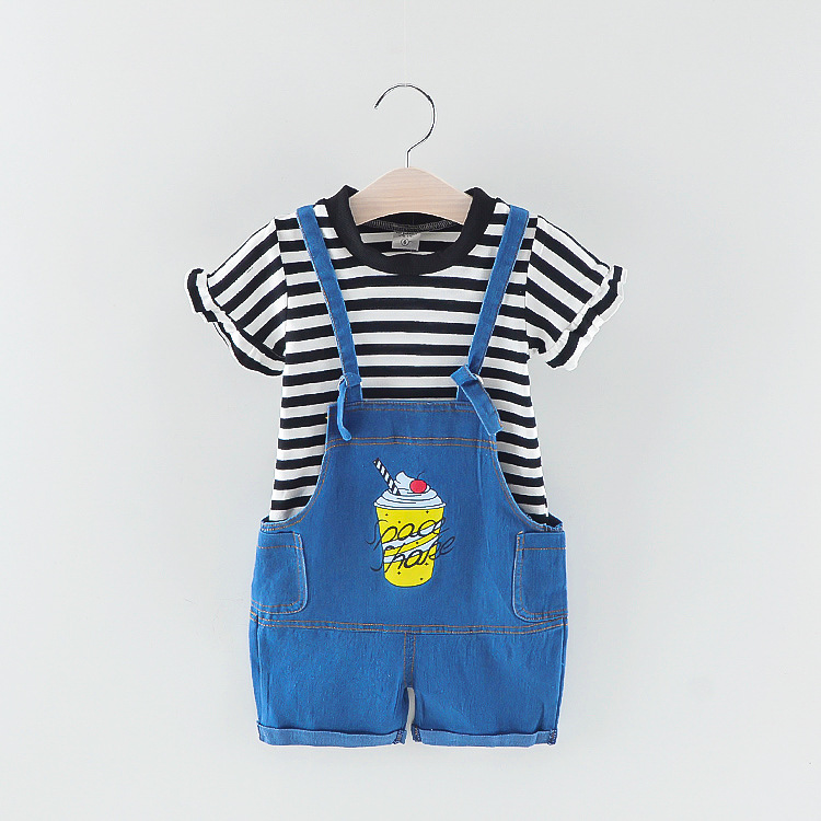 2pcs toddler set cola clothes baby romper clothing set
