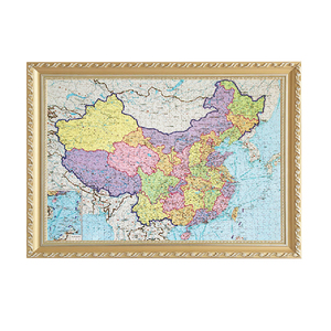 Customize all country map puzzles 3000 pieces Paper jigsaw puzzles for kids