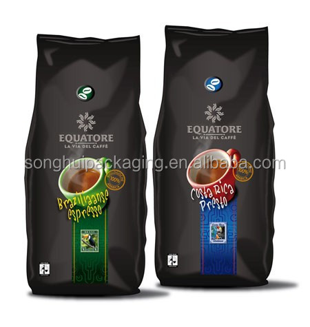 La via del caffe packaging bag, stand-up coffee bag wholesale