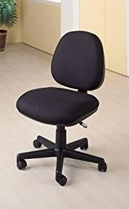 Coaster Home Furnishings 4200 Transitional Office Chair, Black/Black by Coaster Home Furnishings