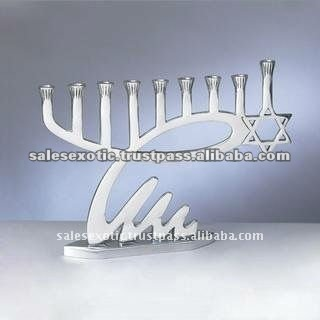 Metal Judaica candle holder