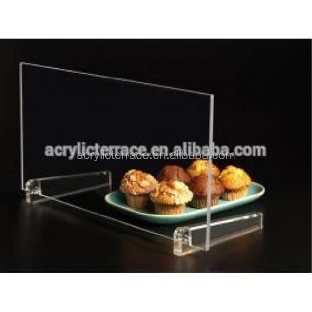 Perspex Acrilico Trasparente Torta di visualizzazione dello schermo Starnuto Cibo Guard 5 MM spessore 750 mm