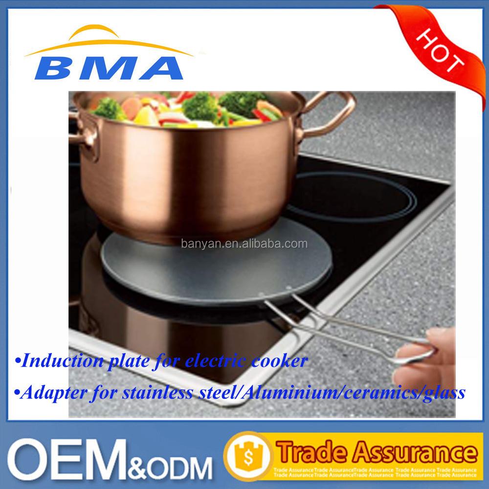 sottopentola acciaio inox VonShef Disco adattatore per piano cottura a induzione 19 cm anello per cuocere a fuoco lento diffusore di calore