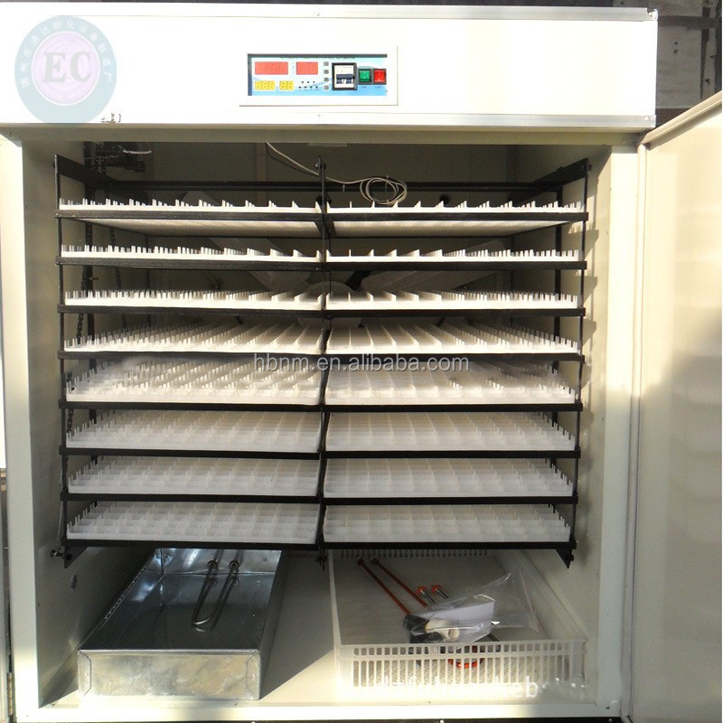 HuaBang CE approved Large full automatic chicken egg incubator HB-33792 for sale