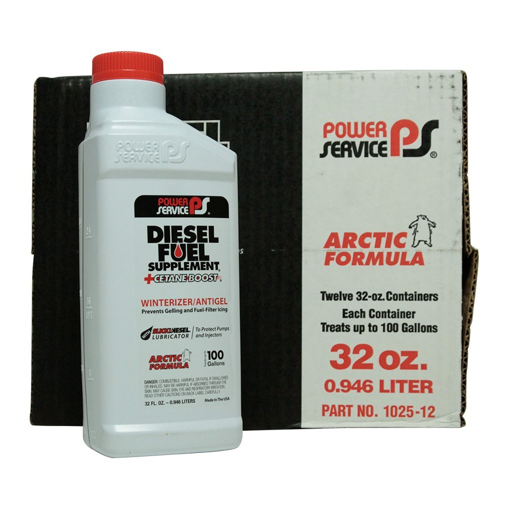 Power Service Diesel Fuel Supplement + Cetane Boost - 12/32oz. Bottles